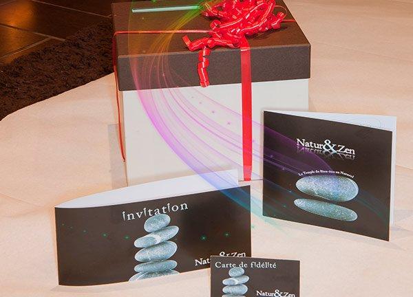 Carte d'invitation de massage